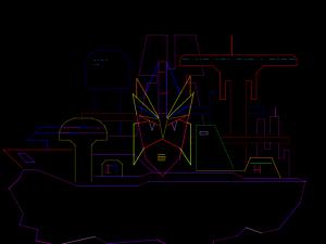 """Não é um projeto do AutoCAD, é um arcade da Sega, """"Zektor"""""""