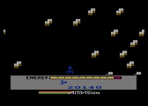 A versão para os computadores 8 bit da Atari, com gráficos melhores