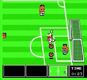 Transformei a bola em duas e cabeceei ambas pro gol. Onde está seu Pelé agora?