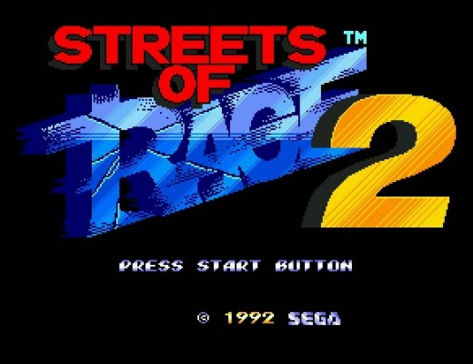 streets of rage 2 title screen
