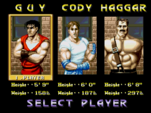 Final Fight personagens