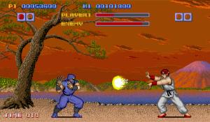 Ryu contra um ninja