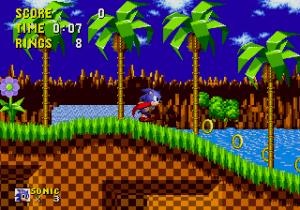 Sonic correndo